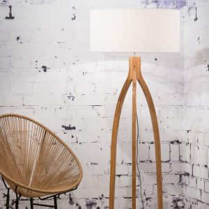 Bamboe vloerlamp van Good & Mojo