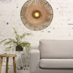 Bamboe wandlamp kalimantan van Good&Mojo