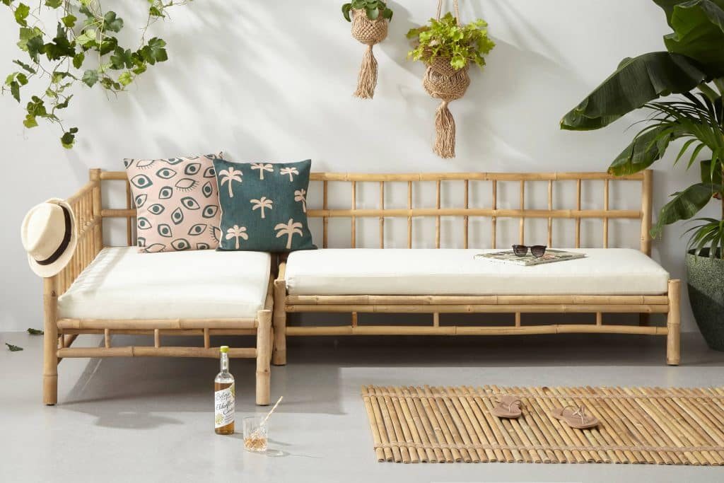 Bamboe loungeset van Wehkamp met linker zithoek