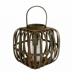 Vierkant bamboe windlicht van Dulaire