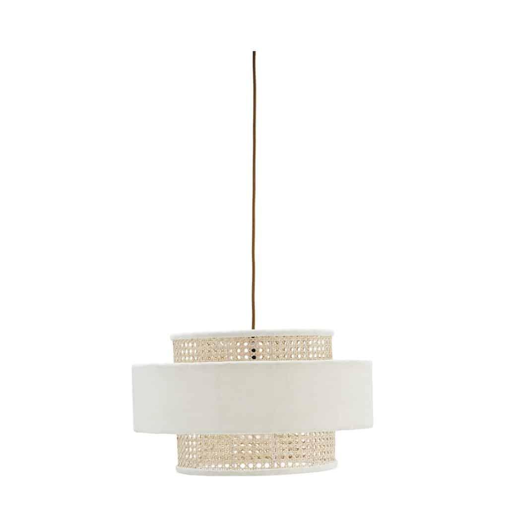 Witte bamboe hanglamp velvet van Madam stoltz