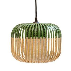 Groene bamboe hanglamp extra small van Forestier