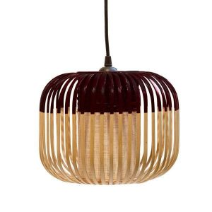 Zwarte bamboe hanglamp extra small van Forestier