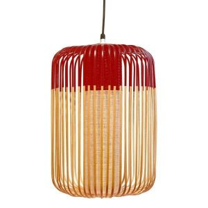 Rode bamboe hanglamp large van Forestier