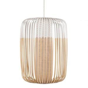 Witte bamboe hanglamp large van Forestier