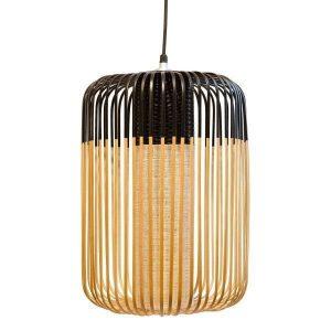 Zwarte bamboe hanglamp large van Forestier