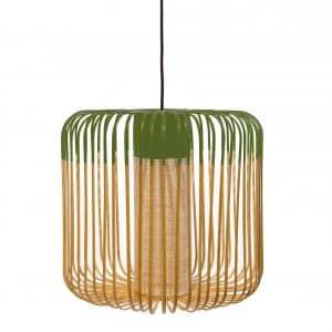 Groene bamboe lamp medium van Forestier
