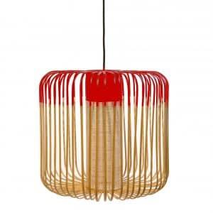 Rode bamboe lamp van Forestier