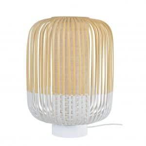 Witte bamboe tafellamp medium van Forestier