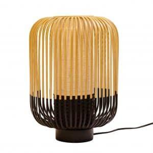 Zwarte bamboe tafellamp medium van Forestier