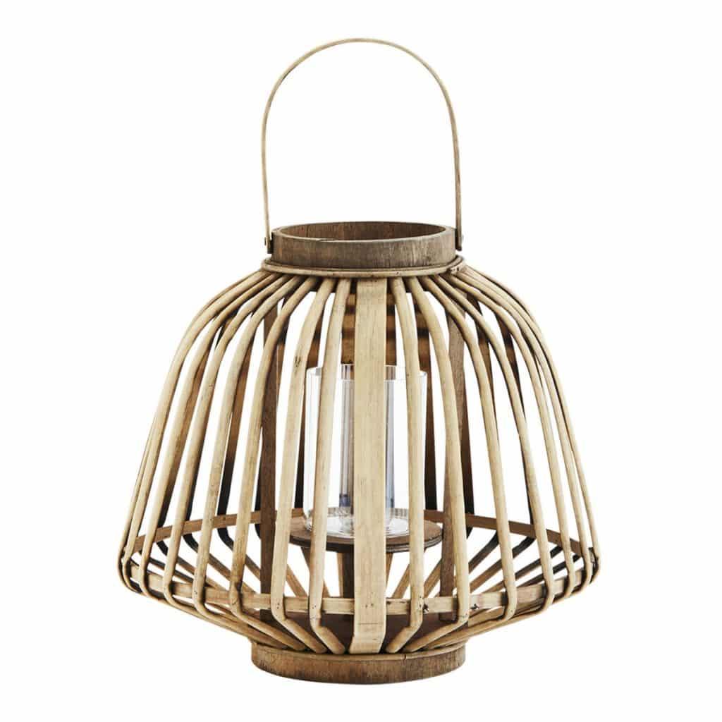 Windlicht van bamboe van het merk Madam Stoltz