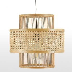 Grote bamboe hanglampenkap van Yen