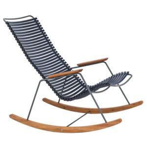Dark blue bamboe schommelstoel click van Houe