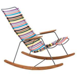 Click bamboe schommelstoel multi color