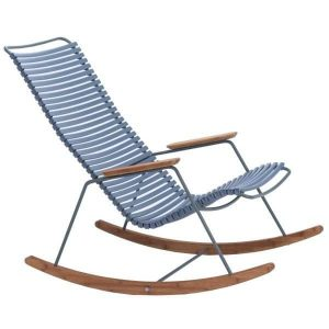 Pigeon blue bamboe schommelstoel click van Houe