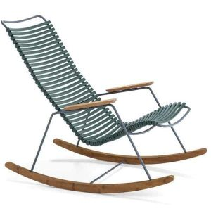 Click bamboe schommelstoel pine green van Houe