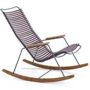 Click bamboe schommelstoel plum van Houe
