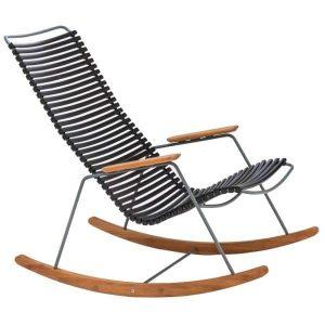 Click bamboe schommelstoel zwart van Houe