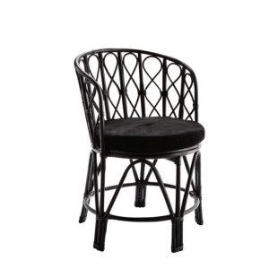 Zwarte bamboe stoel van Madam Stoltz