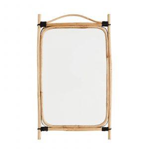 Rechthoekige bamboe spiegel van Madam Stoltz