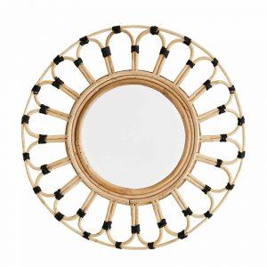 Ronde bamboe spiegel van Madam Stoltz