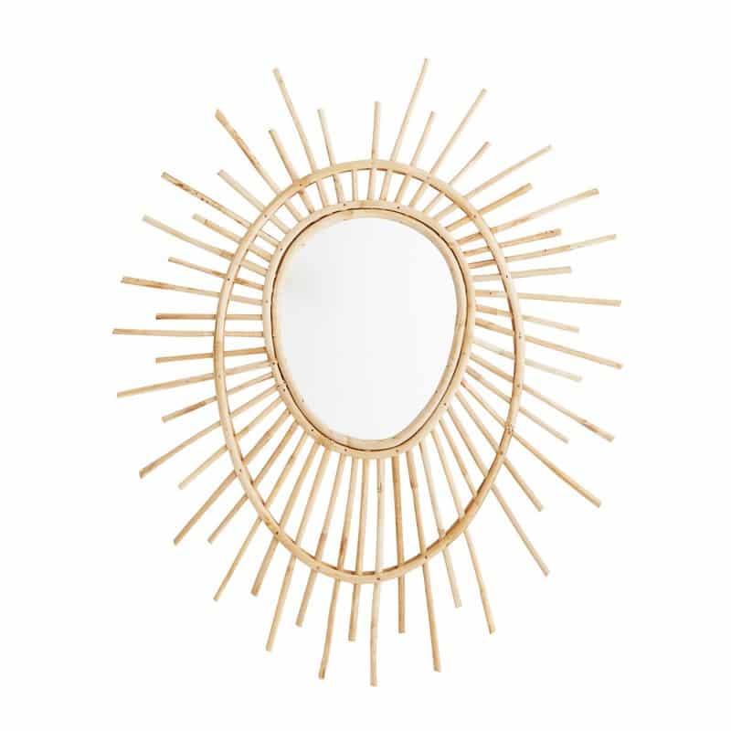 Ovale bamboe spiegel van Madam Stoltz