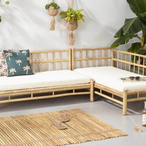 Bamboe loungeset long island van Wehkamp