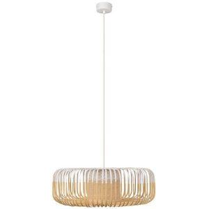 Bamboe hanglamp xl wit van Forestier