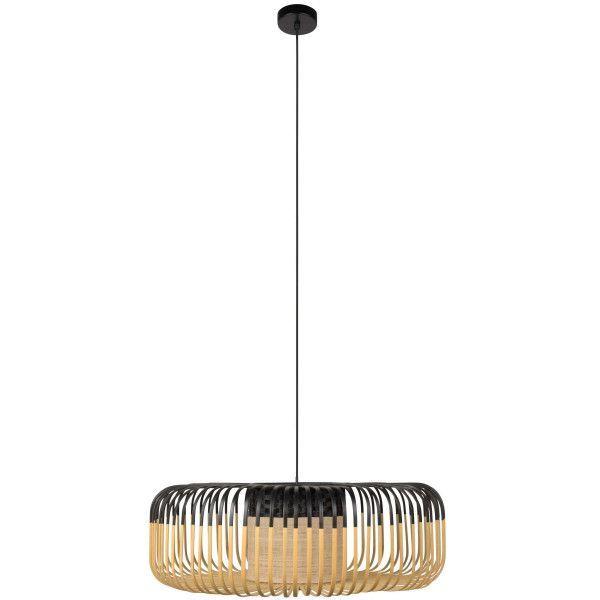 Zwarte bamboe hanglamp xl van Forestier