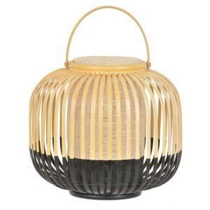 Draagbare zwarte bamboe tafellamp van Forestier