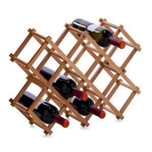 Zeller bamboe wijnrek voor 10 flessen