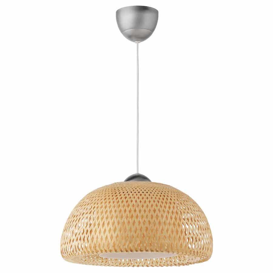 Bamboe hanglamp böja van Ikea