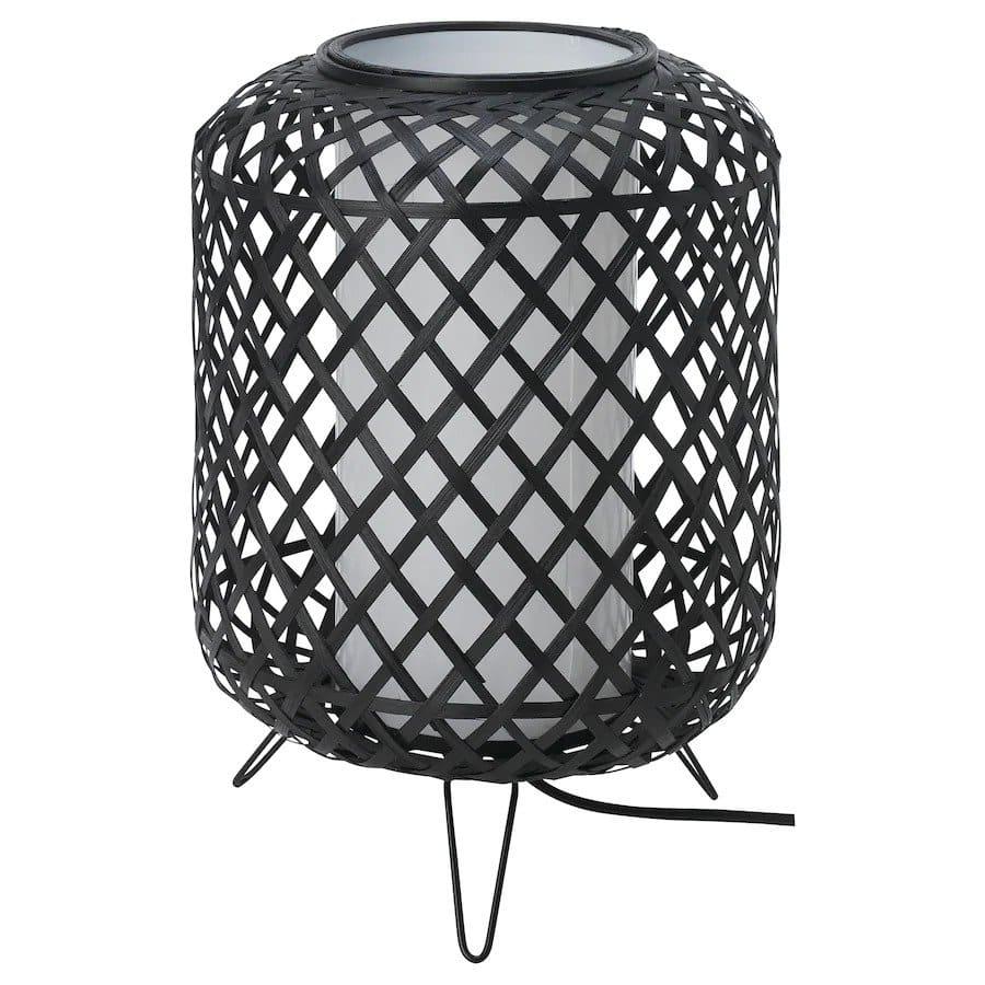 Zwarte bamboe tafellamp gottorp van Ikea