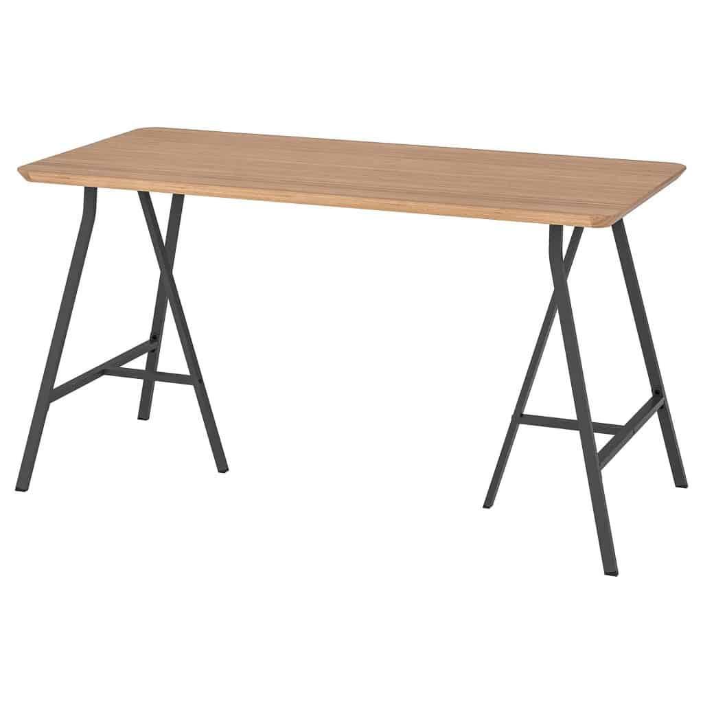 Hilver lerberg bamboe tafel grijs van ikea