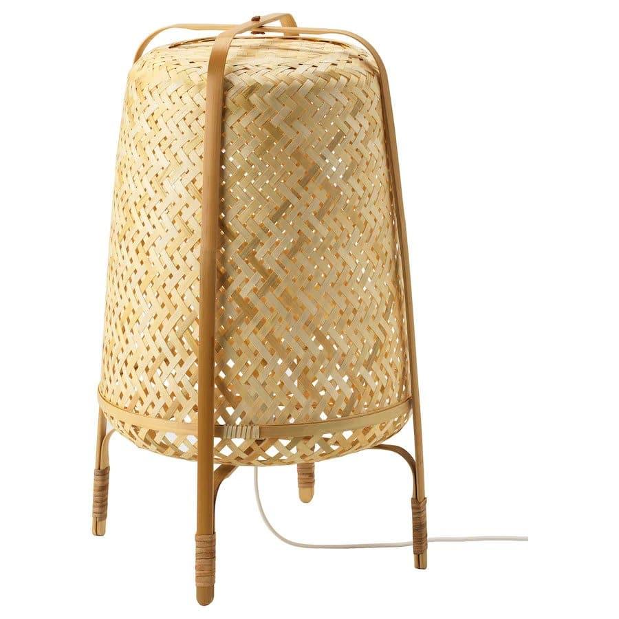 Knixhult bamboe vloerlamp van Ikea