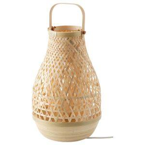 Bamboe tafellamp misterhult van Ikea