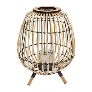 Bamboe lantaarn op voetjes van Xenos