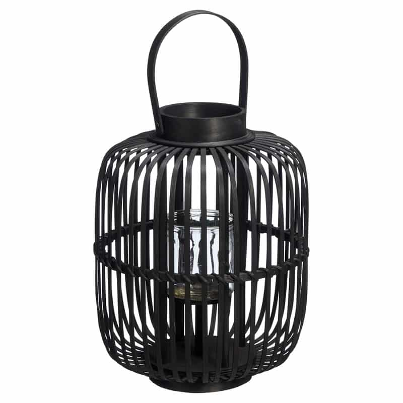 Zwarte bamboe lantaarn van de Kwantum