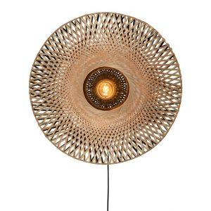 Kalimantan bamboe wandlamp M van Good&Mojo