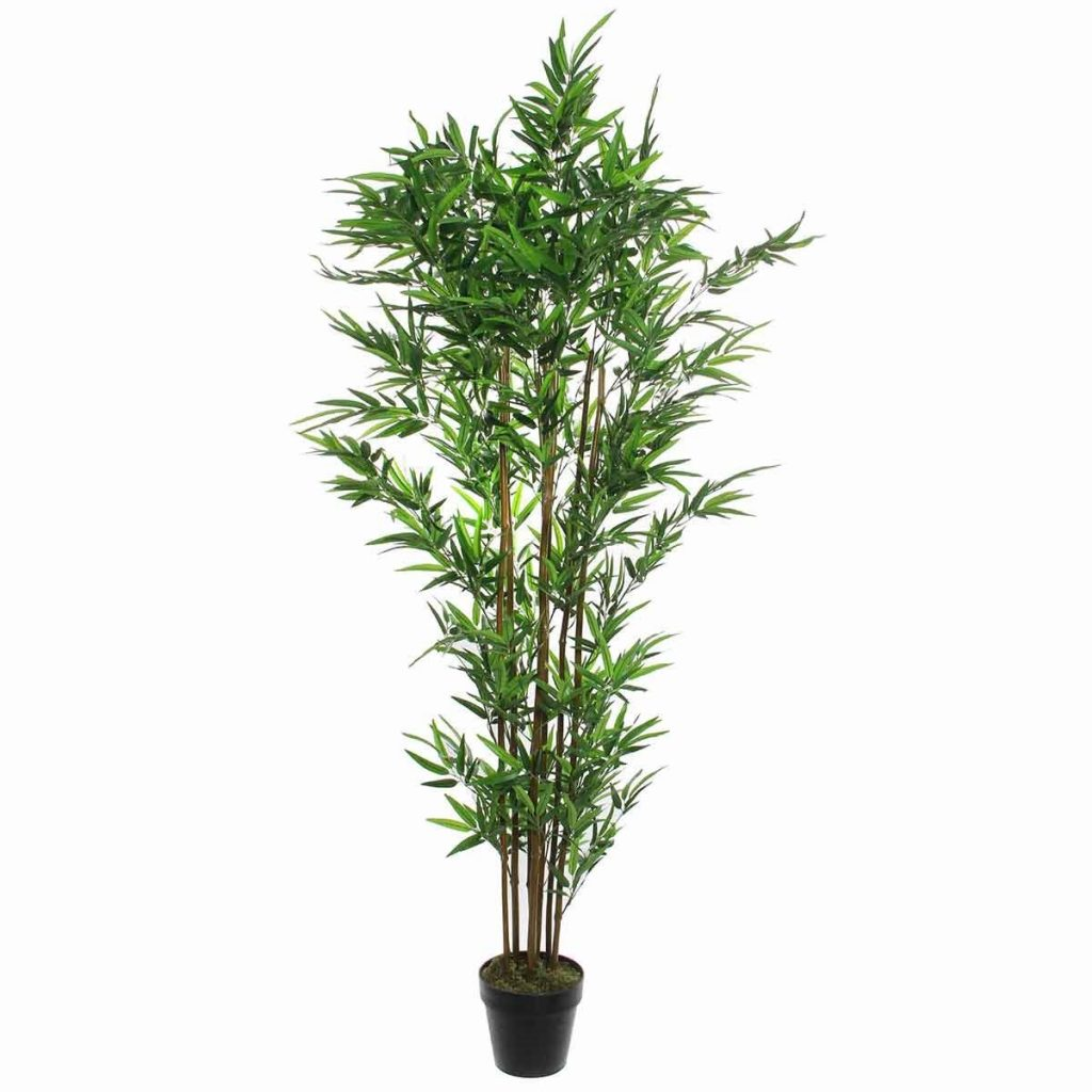 Kunst bamboe plant in pot van mica decorations