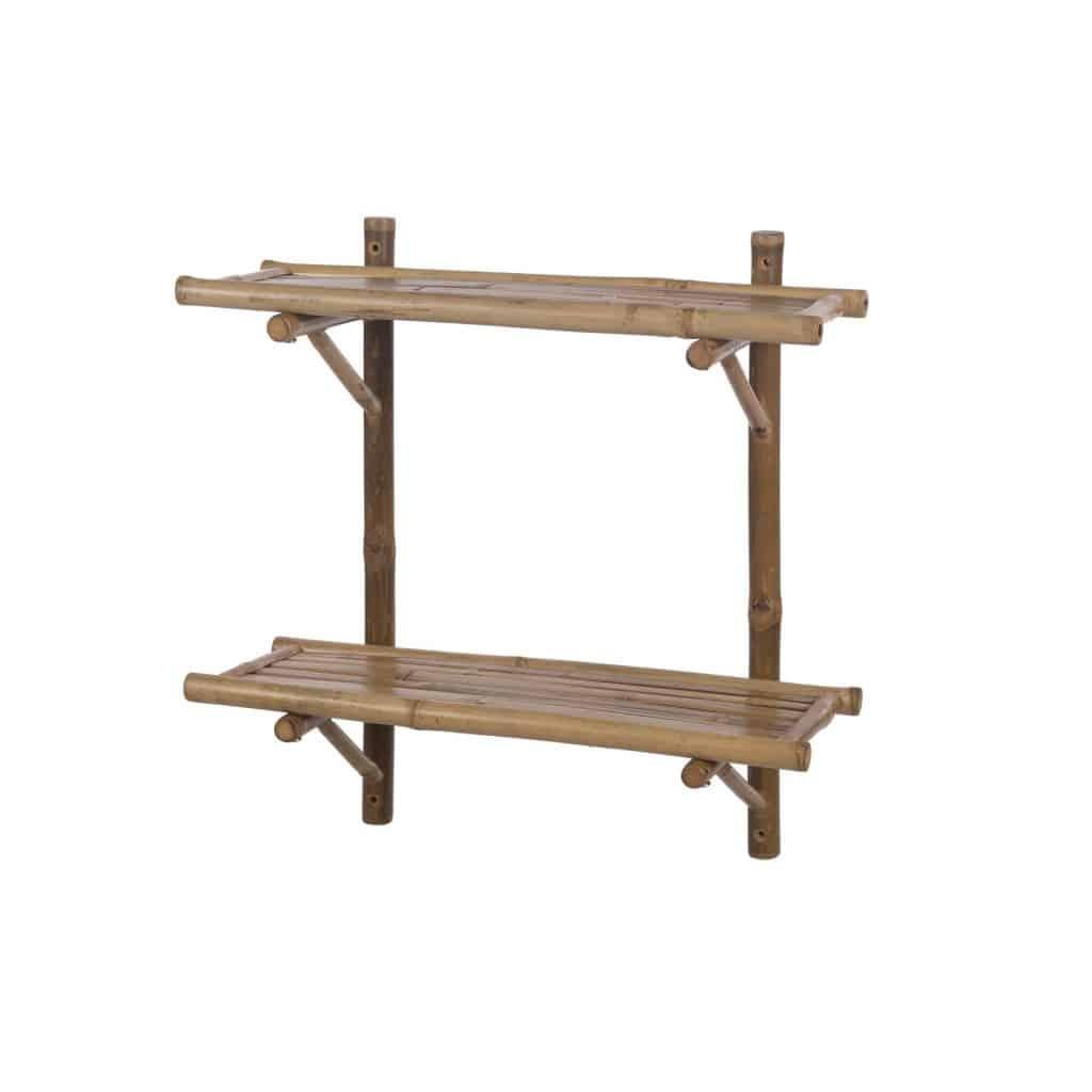 Bamboe wandkast met planken