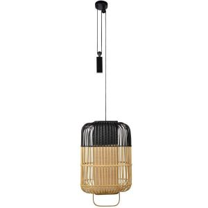 Bamboe hanglamp square large black van Forestier