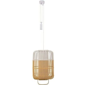 Bamboe hanglamp square large white van Forestier