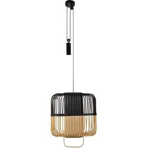 Bamboe hanglamp square medium black van Forestier