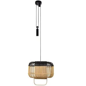 Bamboe hanglamp square small black van Forestier