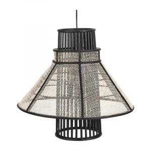 Bamboe hanglamp zwart naturel van de xenos