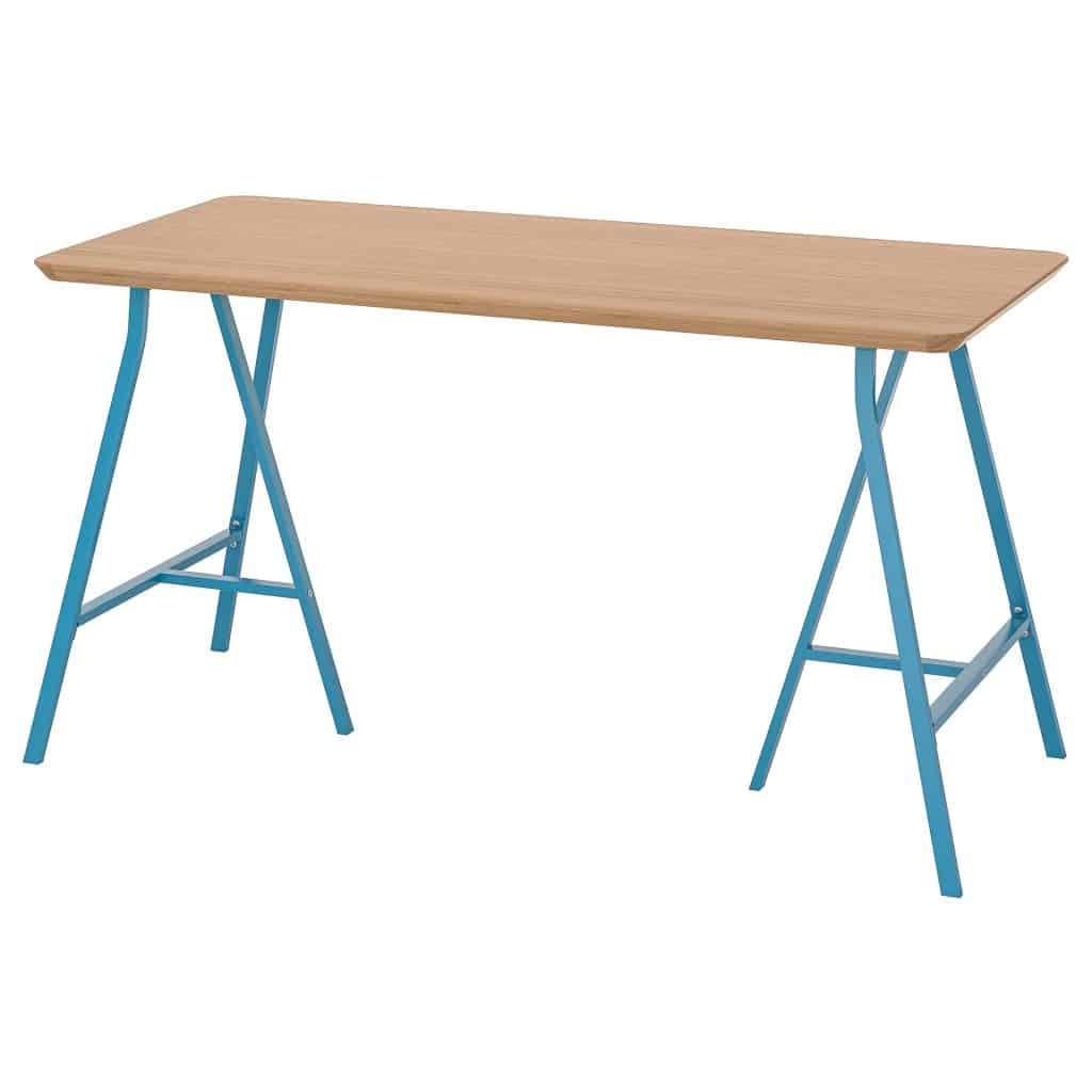 Blauwe bamboe tafel hilver lerberg van Ikea