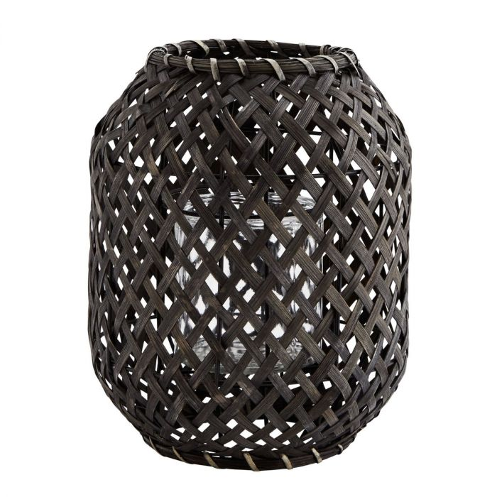 madam-stoltz-bamboe-lantaarn-zwart