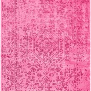 Bamboe vloerkleed roze make up