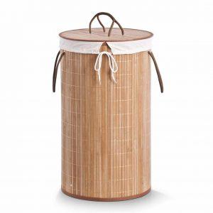 Ronde bamboe wasmand van zeller